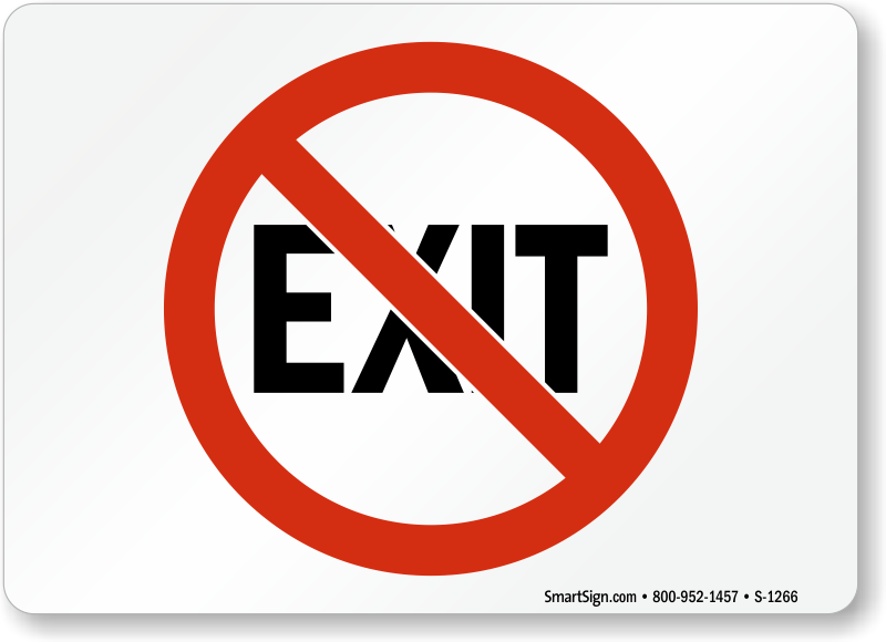 Exit Sign Clipart - Bs44 Rigid Self Adhesive 300 X 150mm Exit Running Man -  Free Transparent PNG Clipart Images Download