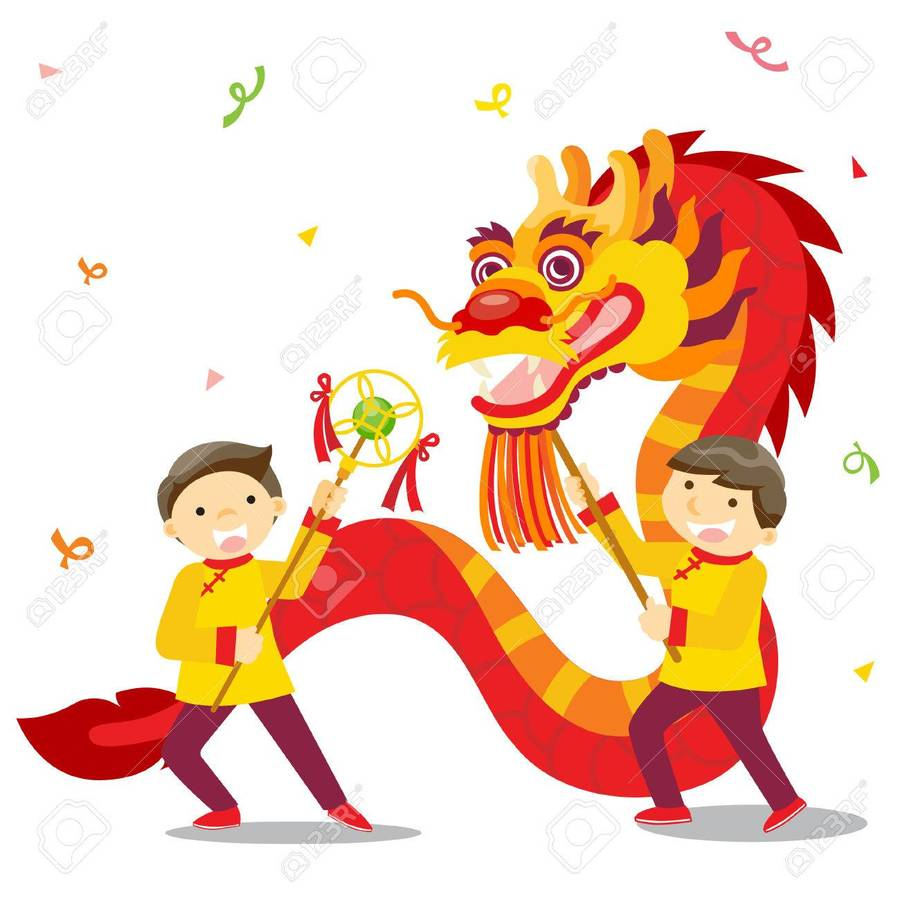 chinese new year clipart chinese new year dragon dance clip art