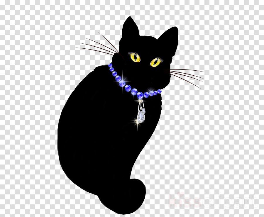 Cat clipart Black cat Domestic short-haired cat Himalayan cat