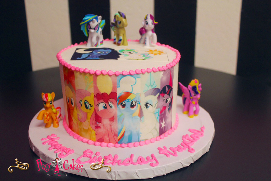 Birthday Cakes For Girls My Little Pony Clipart Cake Decorating Cupcake