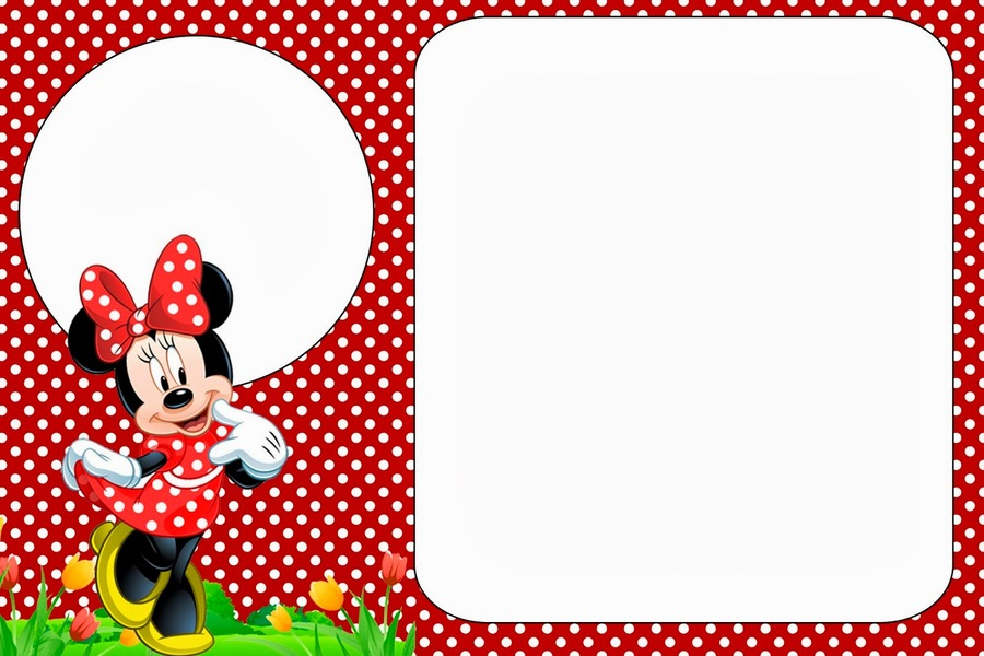 Download Red Minnie Mouse Invitation Template Clipart Mickey Birthday Party