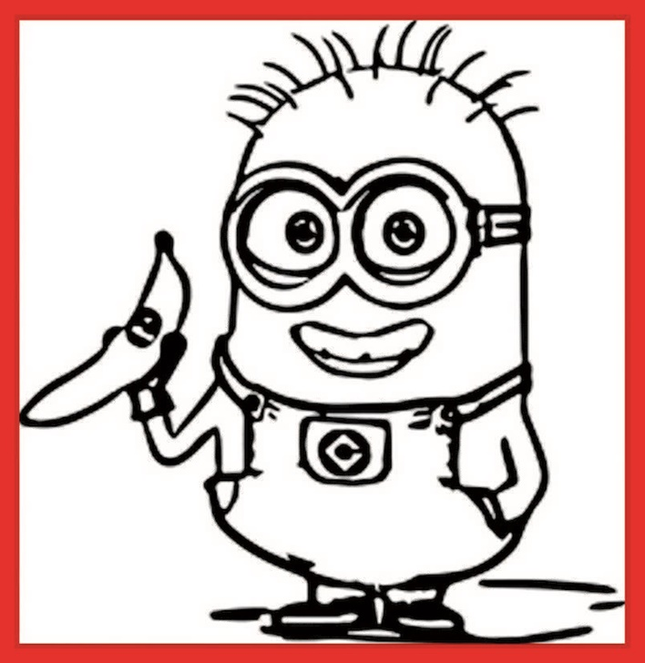 Download Minion Banana Coloring Pages Clipart Bob The Kevin Book