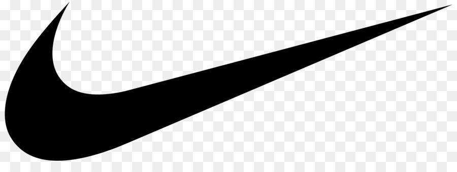 Nike transparent. Swoosh silhouette clipart line