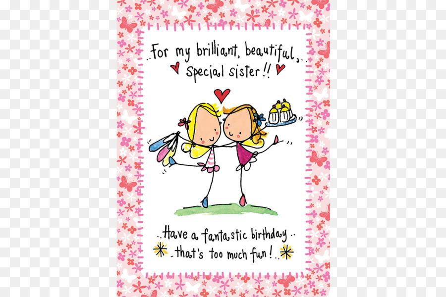 Birthday Card Design Clipart Birthday Sister Text Transparent Clip Art