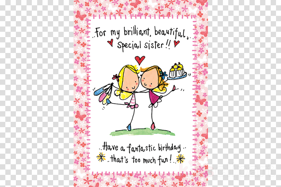 Birthday Cards For Sister Clipart Greeting Note Card Design