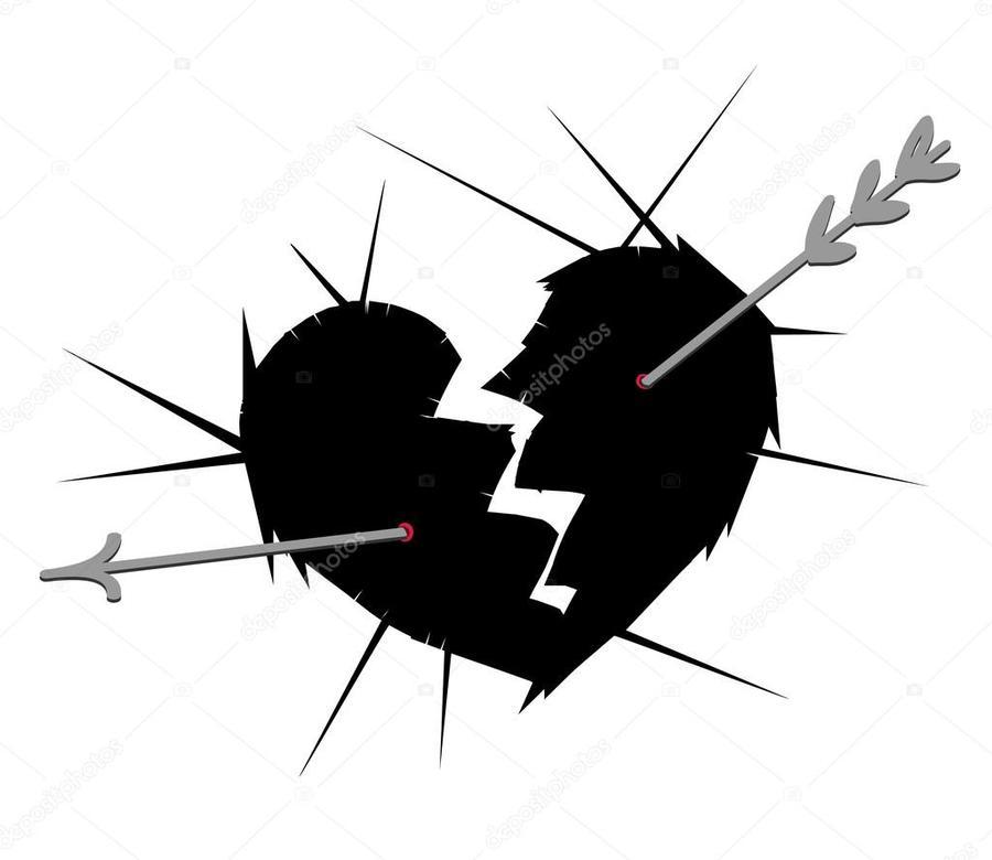 Download Arrow Heart Hurt Clipart Broken Heart Symbol Heart