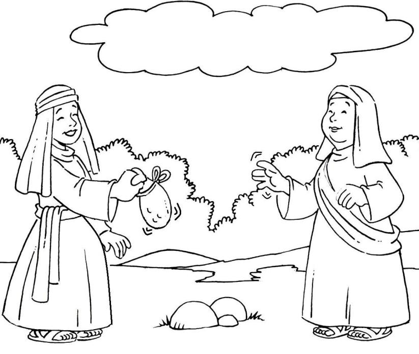Download Bible Coloring Pages Ruth And Naomi Clipart Book Of