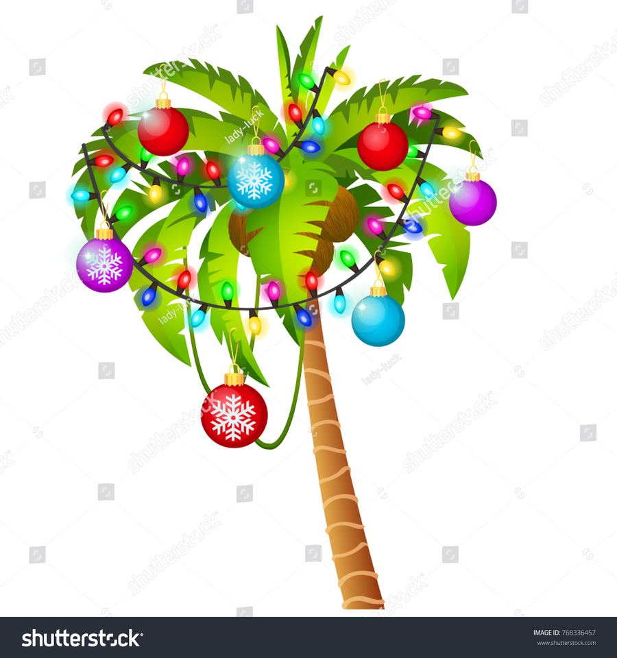 download palm tree with christmas lights clipart branch clip art illustration tree plant