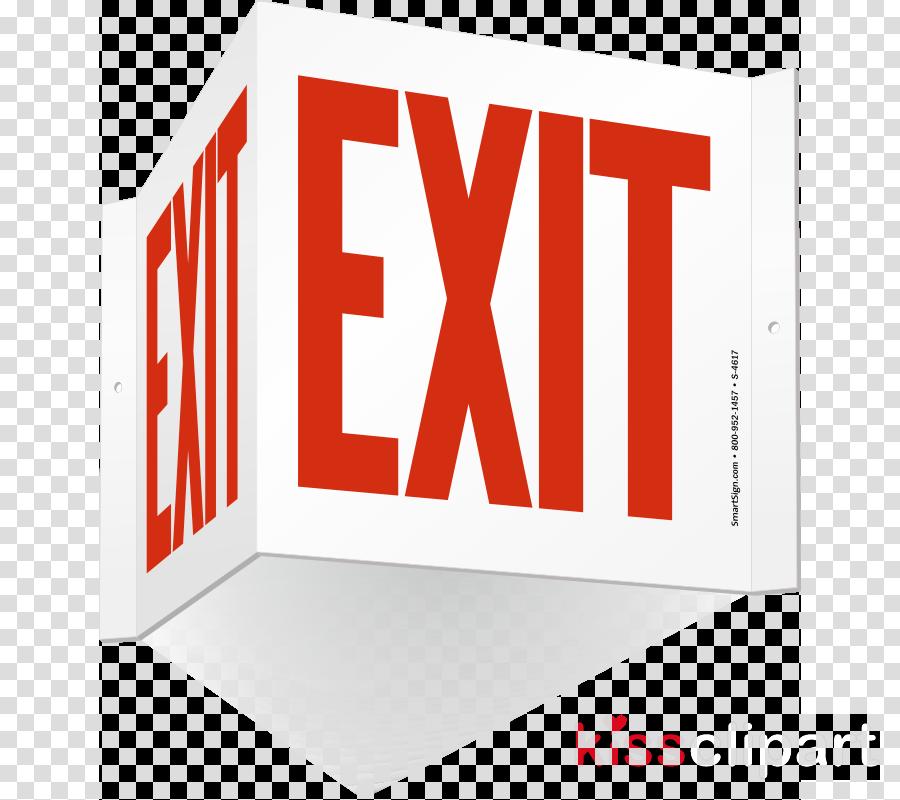 Psychological projection clipart Exit sign Signage Logo