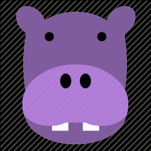 hippo face template - 512×512