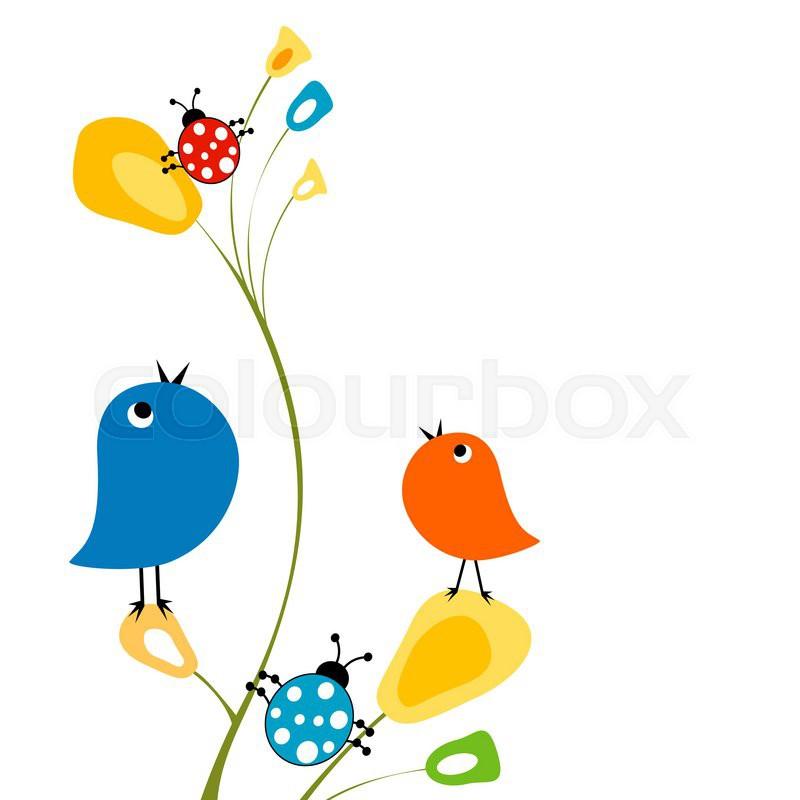 Spring bird. Download free clip art