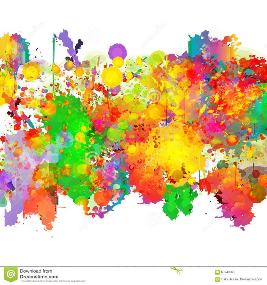 Abstract Color Splash Background Clipart Desktop Wallpaper