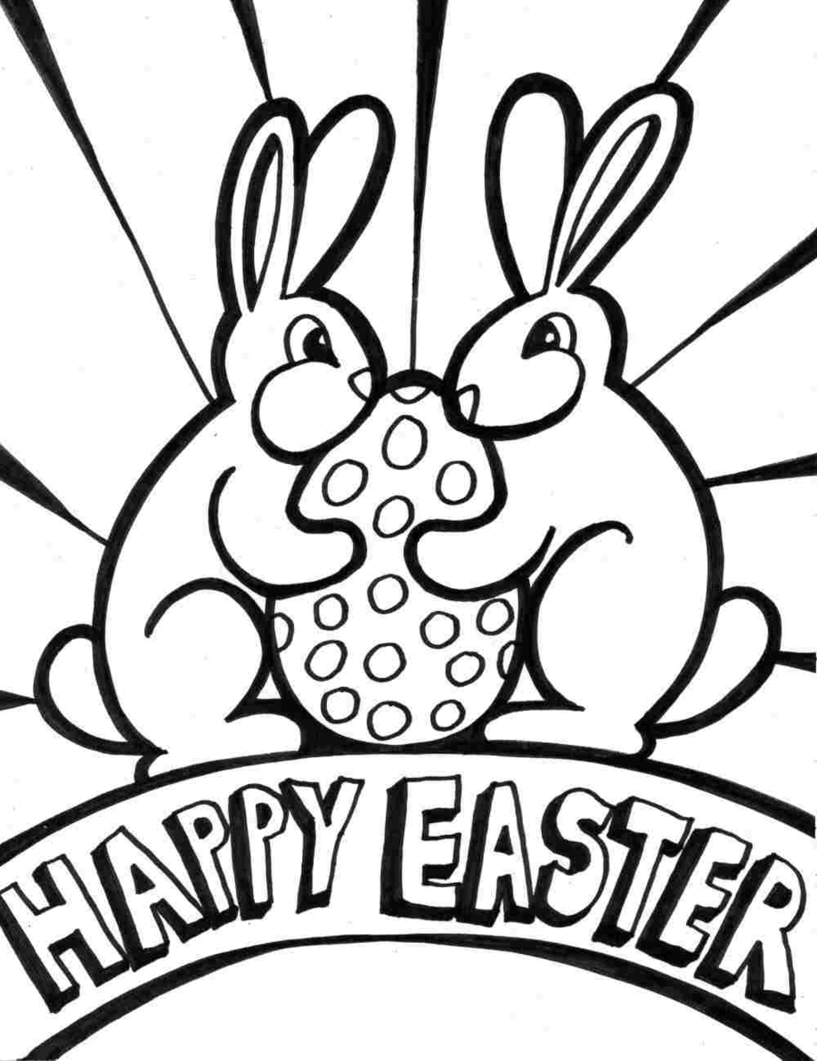 Download easter egg coloring pages clipart Easter Bunny Coloring ...