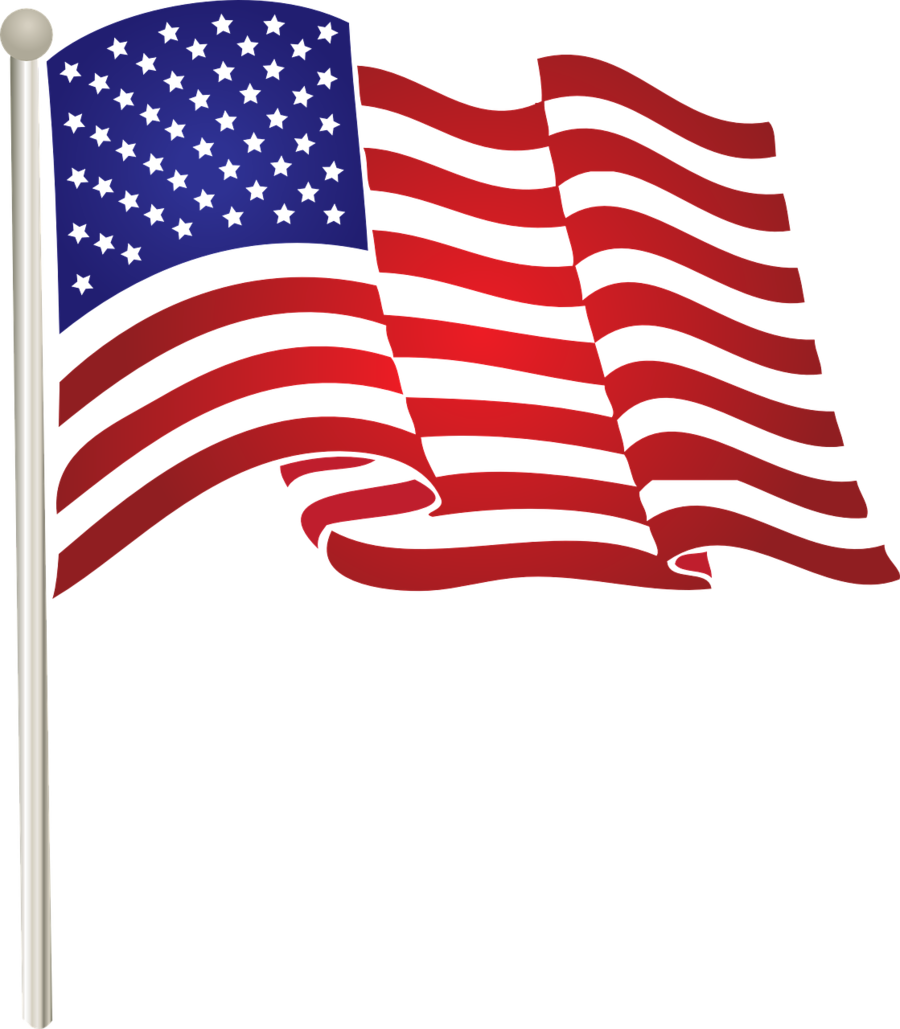 American flag cartoon. Clipart line font transparent