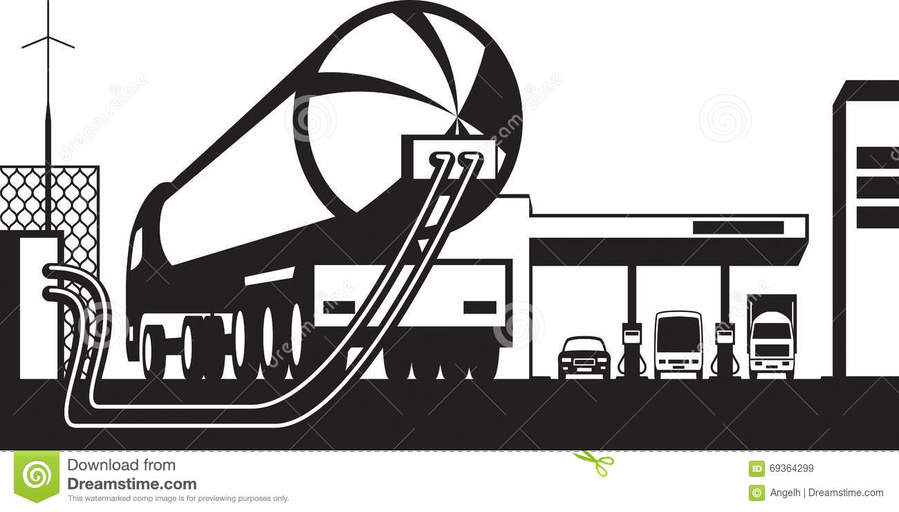 Download Truck Loading Station Diagram Clipart Filling Station Tank