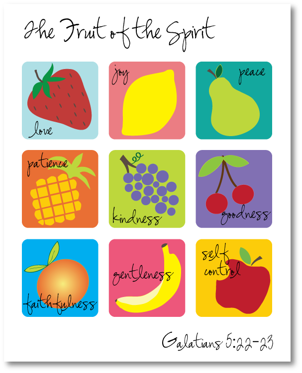 fruit of the spirit clip art for kids clipart Bible Fruit of the Holy Spirit Clip art