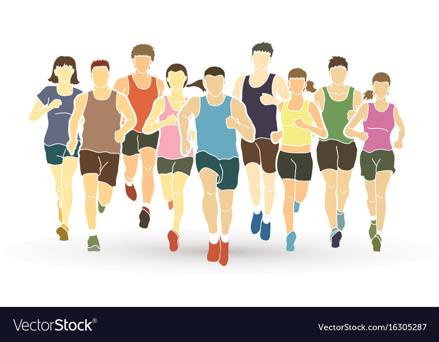 Running Graphics Illustration Woman Sports Team Png Clipart