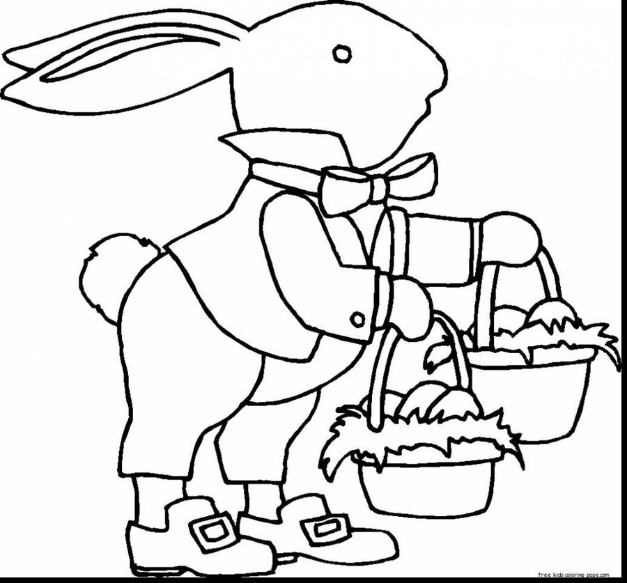 download printable free easter bunny template clipart easter bunny