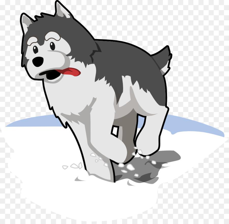 running husky clipart Siberian Husky Puppy Clip art