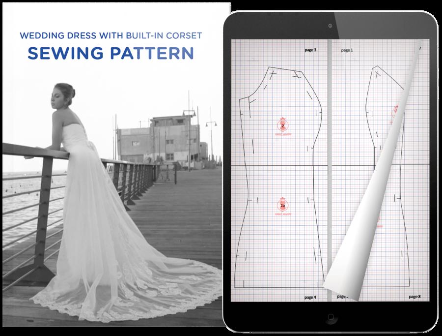 sew a dress train clipart Wedding dress Train