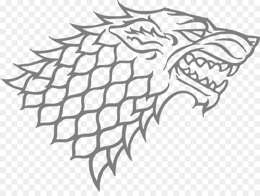 Game of thrones wolf. Winter house drawingtransparent png