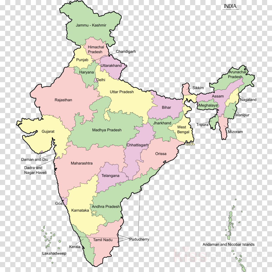 India Map Line Transparent Png Image Clipart Free Download