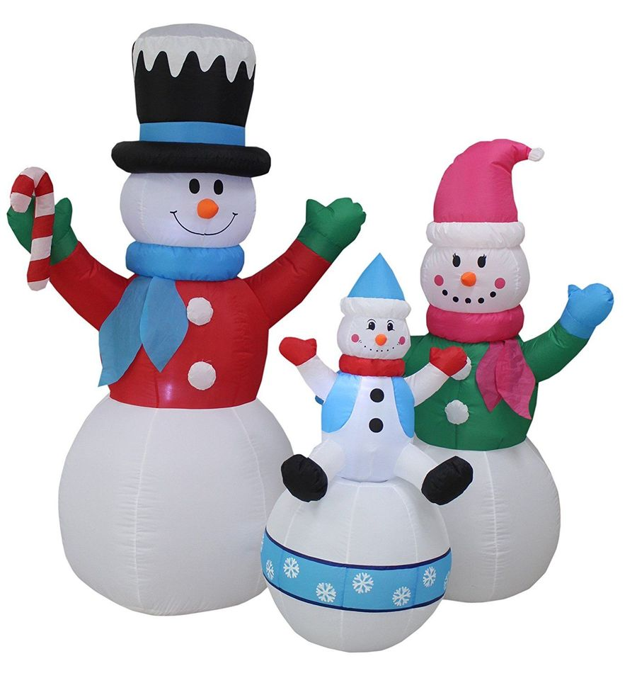 Download bzb goods happy snowmen family christmas decoration clipart ...