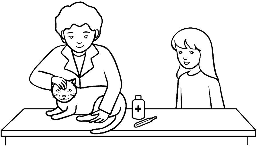 Download veterinario para colorear clipart Dog Veterinary medicine ...