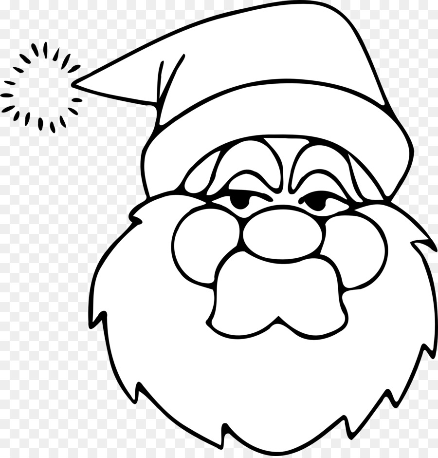 download santa claus mask printable clipart santa claus coloring book clip art