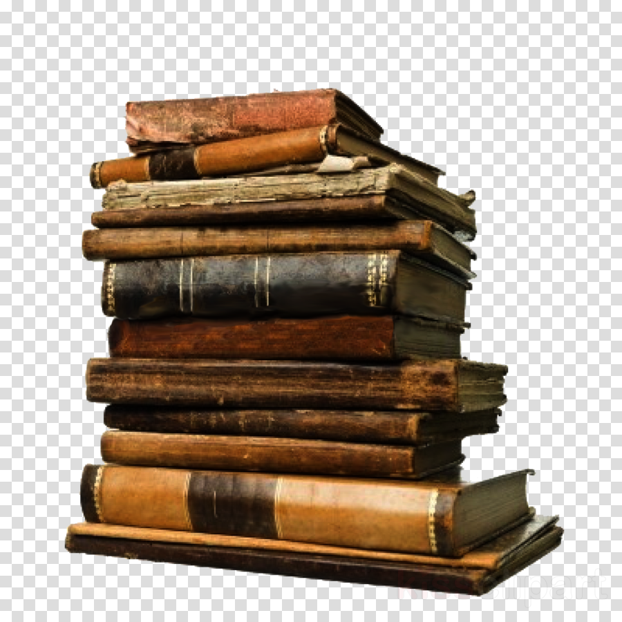 stack of old books png clipart Used book
