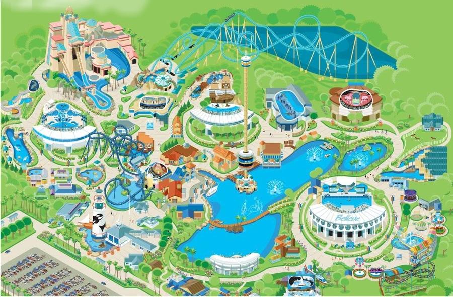 Clipart resolution 996*654 - seaworld orlando park map clipart ...