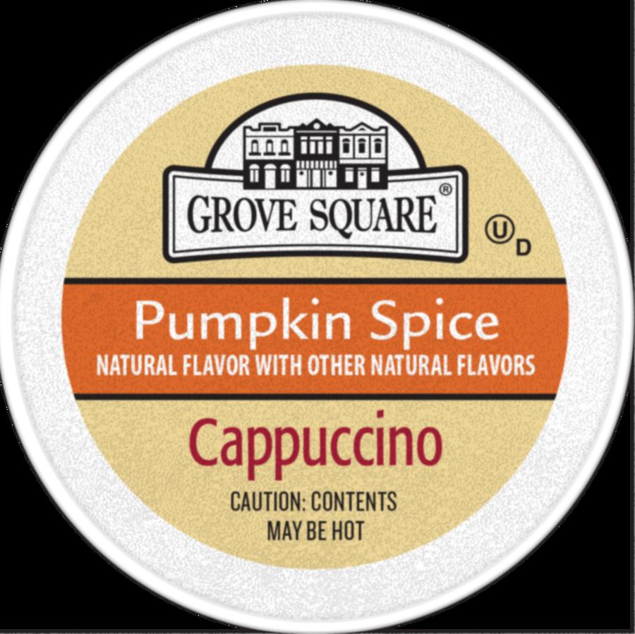 grove square cappuccino coffee makers, pumpkin spice - 24 count, 0.53 oz each clipart Cappuccino Single-serve coffee container Pumpkin Spice Latte