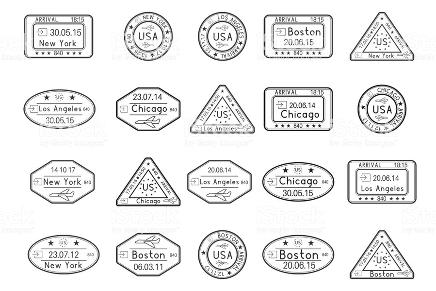 Rubber Stamp Clipart United States Of America Postage Stamps