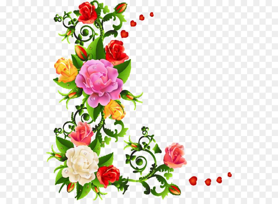 Watercolor Flower Background Clipart Flower Plant Design