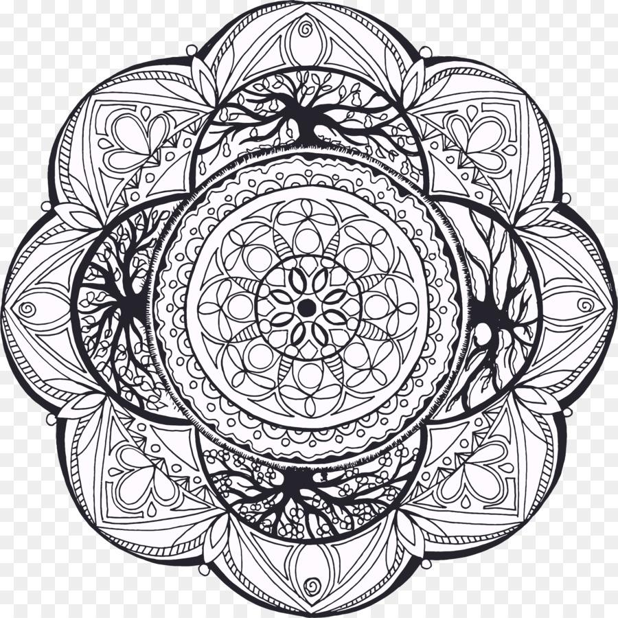 Seasons Mandala Clipart Coloring Book Zentangle