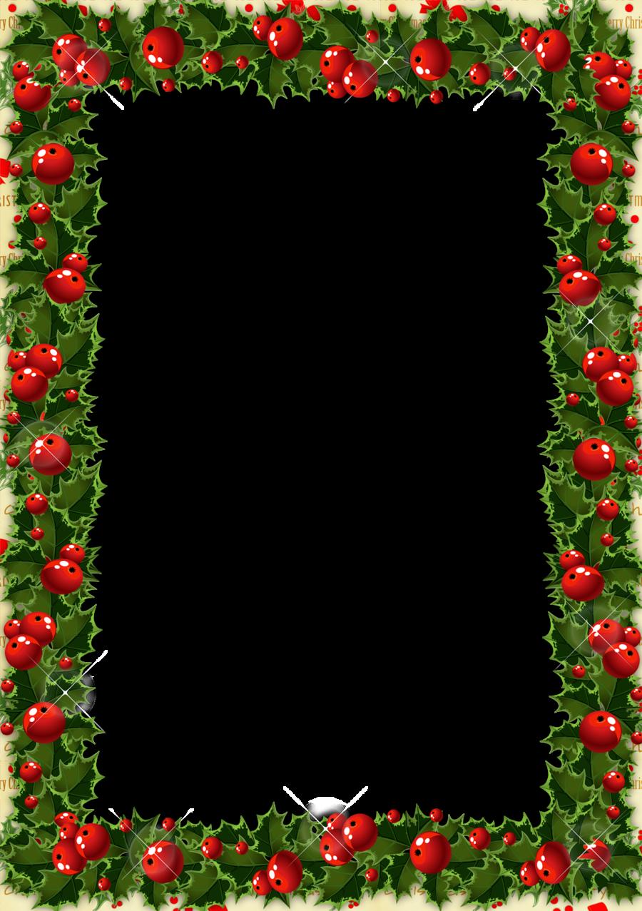 Download christmas frame transparent clipart Santa Claus Picture ...