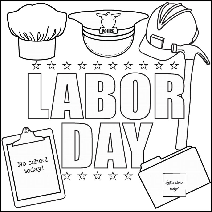 Download labor day coloring pages clipart Drawing Labor Day Coloring ...