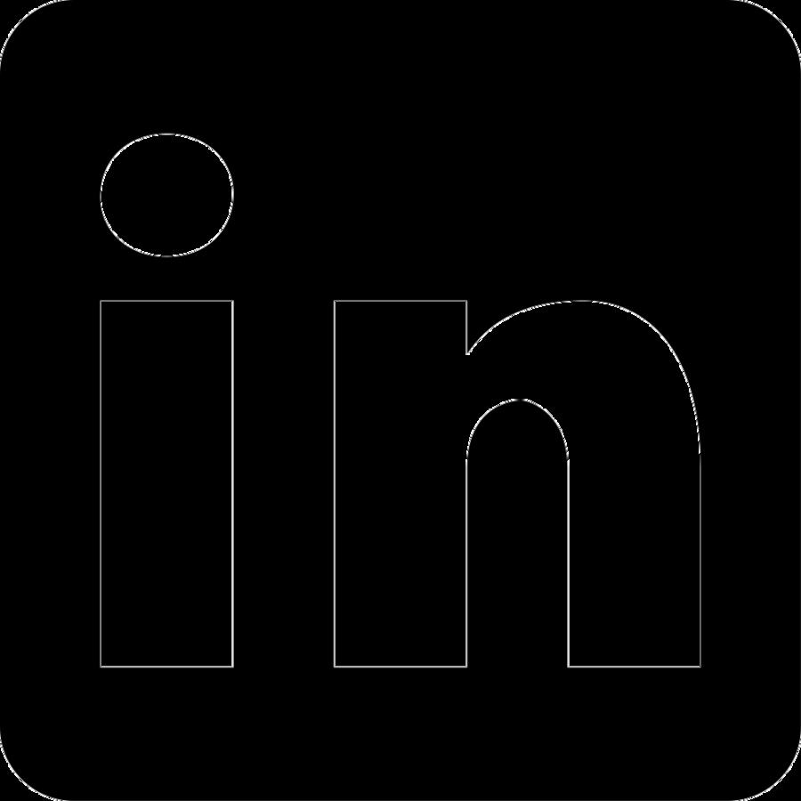 Social Media Logo Clipart Linkedin Black Text