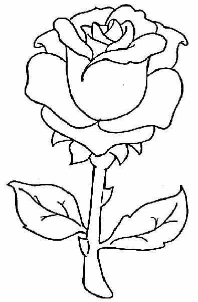 Clipart resolution 395*601 - flores para colorear clipart Coloring ...