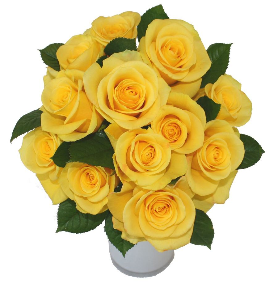 Download Yellow Rose Flowers Bouquet Clipart Garden Roses Flower