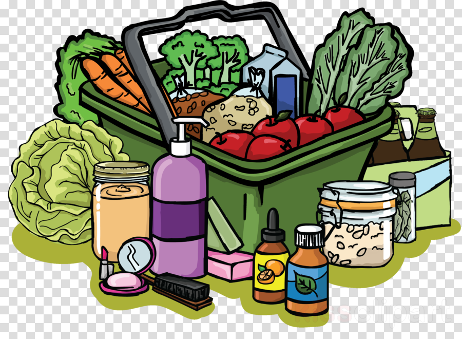 cartoon clipart Organic food Grocery store