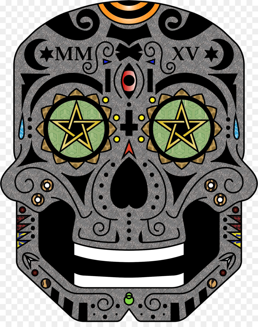 Day Of The Dead Skull Clipart Skull Product Font Transparent