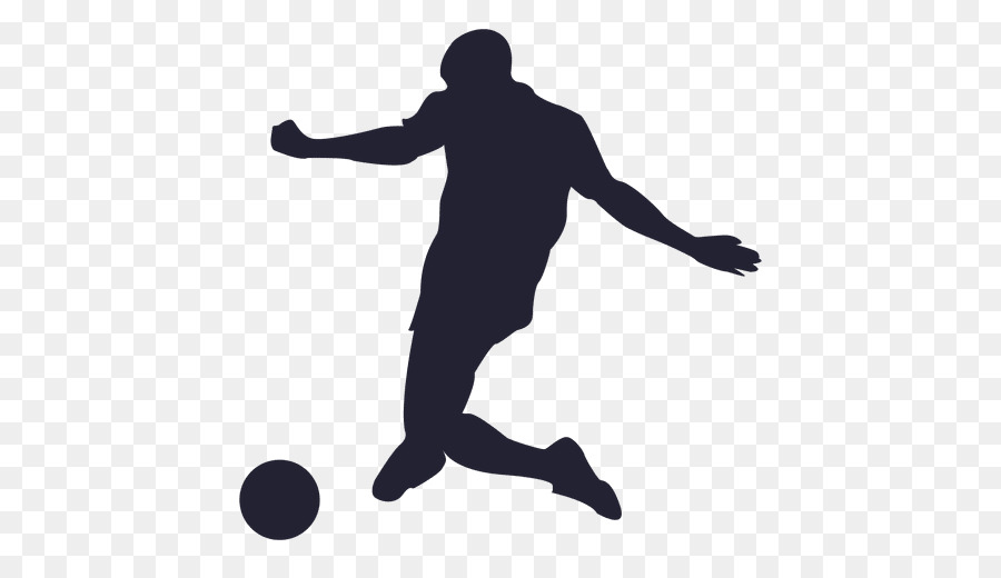Football Player clipart - Silhouette, Line, Ball