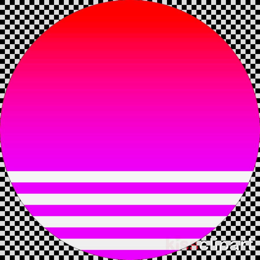 vaporwave sun png clipart Clip art