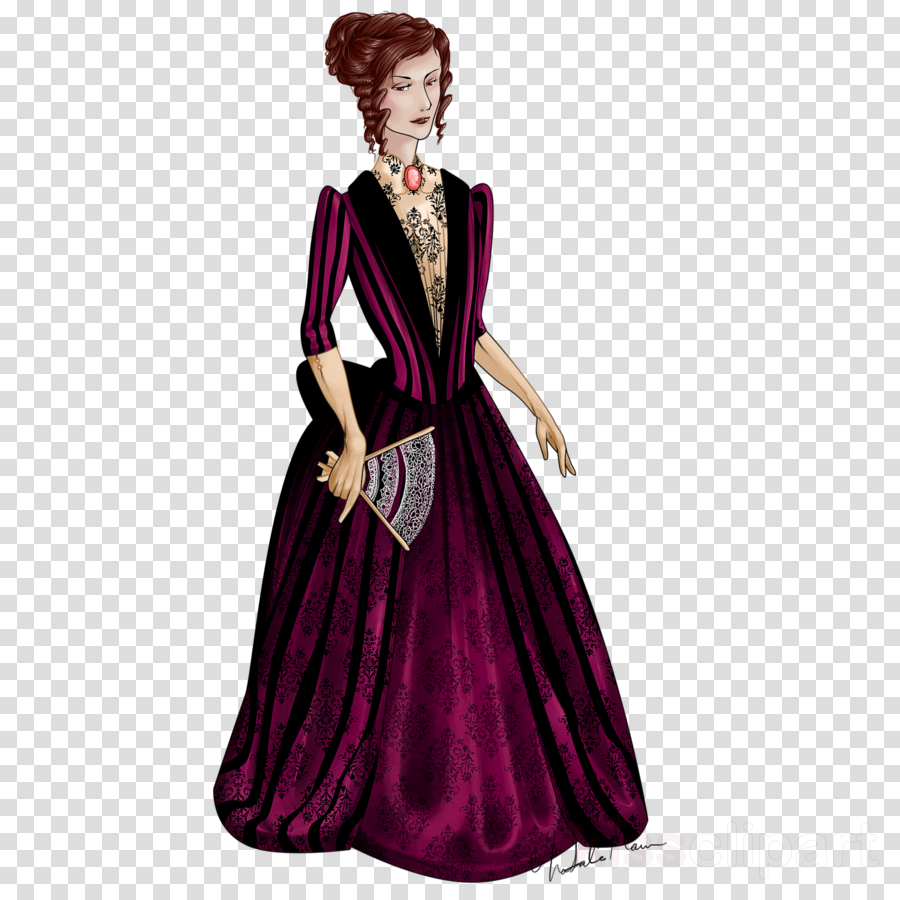 gown clipart Gown Purple