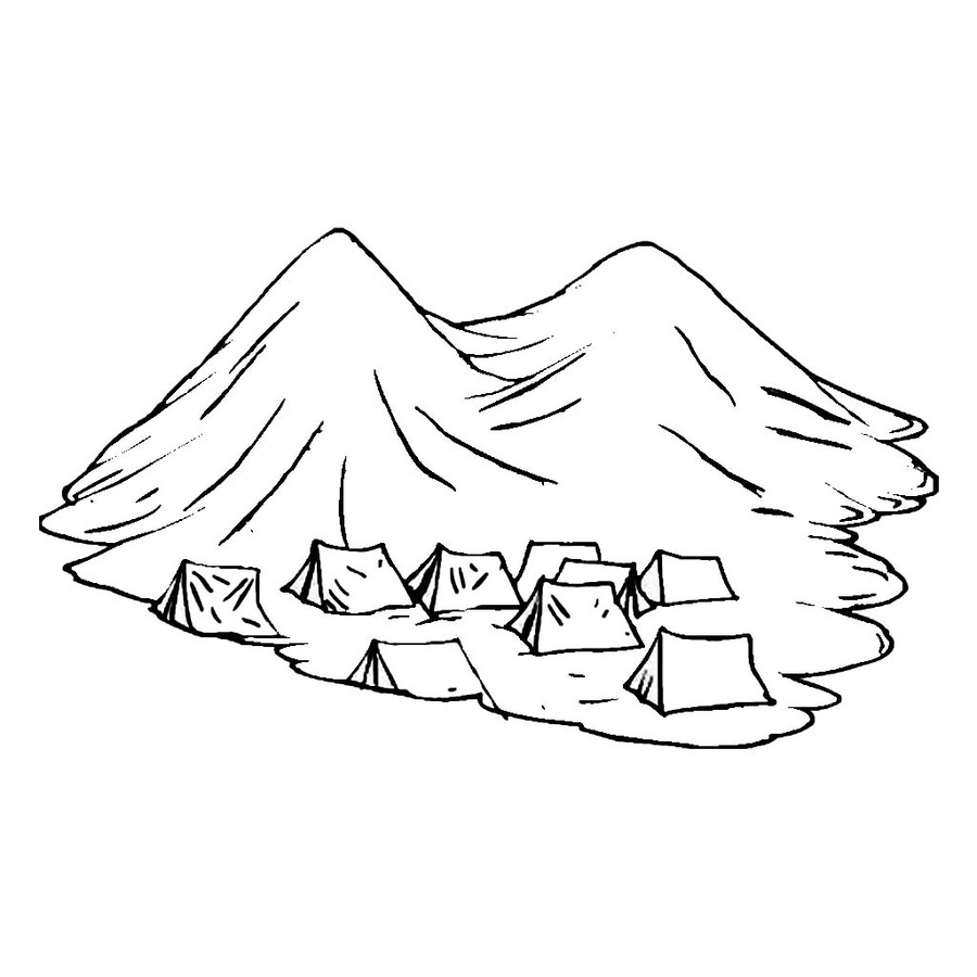 Download coloring pages of mountains clipart Coloring book Colouring ...