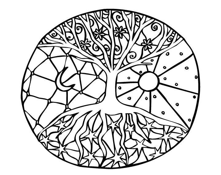 Download mandalas para pintar arbol clipart Mandala Tree ...