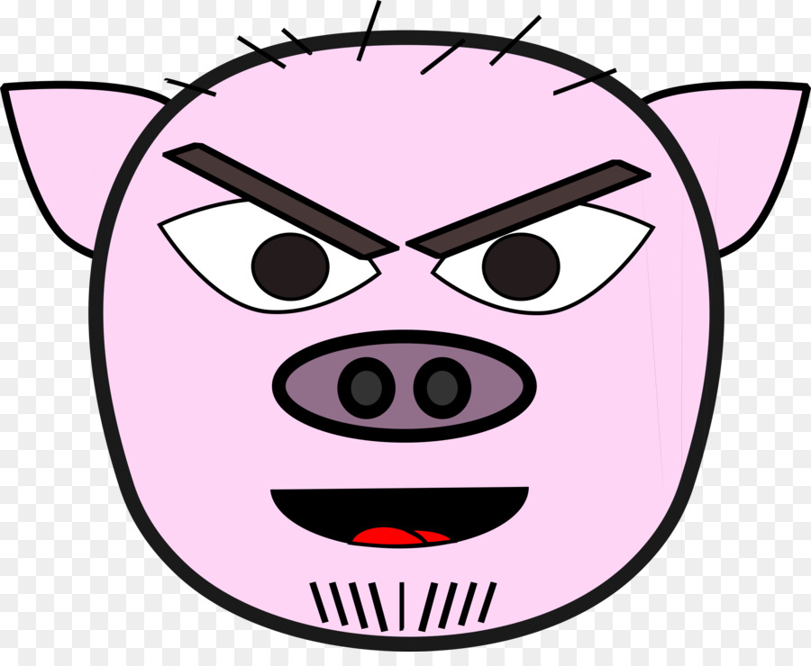 Pig evil. Face cartoon clipart video