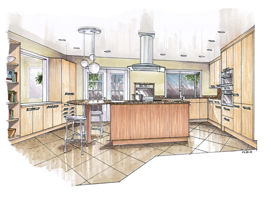 Download Interior Design Sketches Kitchen Clipart Interior Design