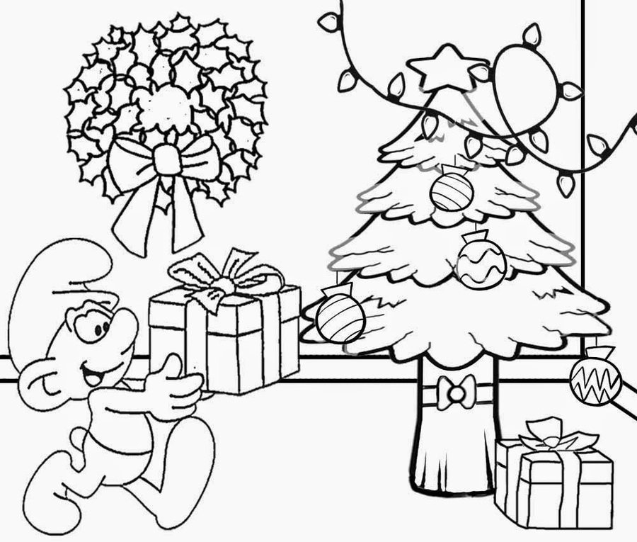 download smurf christmas coloring pages clipart smurfs christmas coloring pages coloring book
